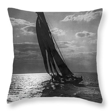 Thebaud Setting Out To Sea Throw Pillow