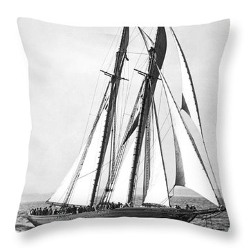 Thebaud Under Full Sail Throw Pillow