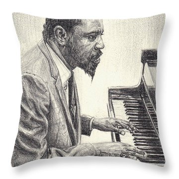 Thelonious Monk II Throw Pillow