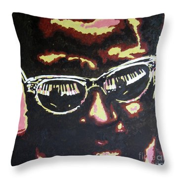 Thelonius Monk Throw Pillow by Ronald Young