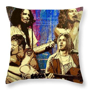 Grunge Throw Pillows