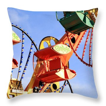 Theme Park Ride Throw Pillow by Valentino Visentini