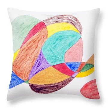 Throw Pillow featuring the painting Theme Parks by Stormm Bradshaw