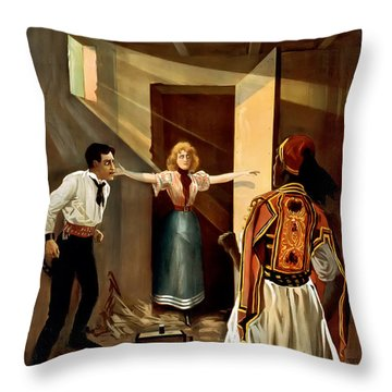 Then You Die Together Throw Pillow by Terry Reynoldson