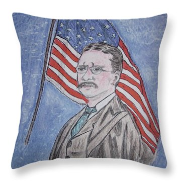 Theodore Roosevelt Throw Pillow by Kathy Marrs Chandler