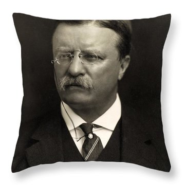 Theodore Roosevelt Throw Pillow by Unknown