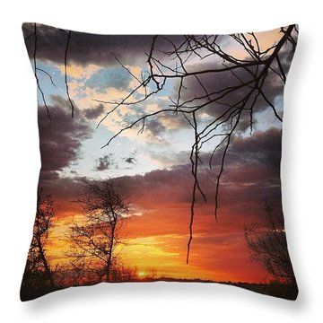 There Goes The Sun Throw Pillow