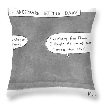 There Is A Dark Scene With Two Word Bubbles Throw Pillow
