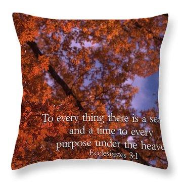 There Is A Season Ecclesiastes Throw Pillow