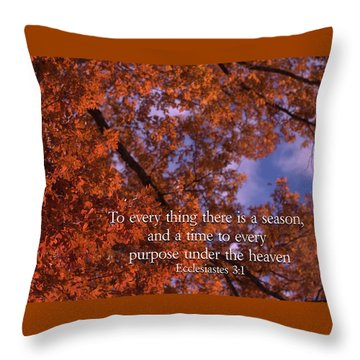 There Is A Season Ecclesiastes Throw Pillow