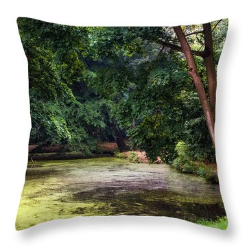 There Is Always A Hope. Park Of De Haar Castle Throw Pillow by Jenny Rainbow