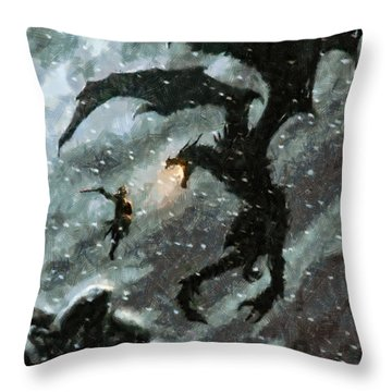 There Is No Fear Throw Pillow by Joe Misrasi