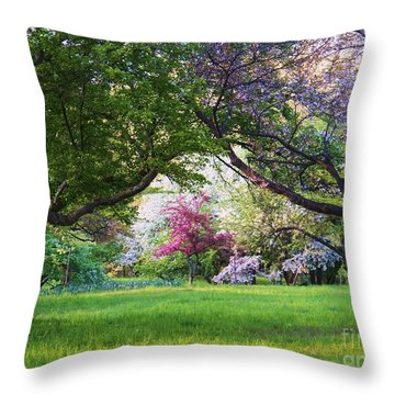 There Is No Place Like Spring Throw Pillow