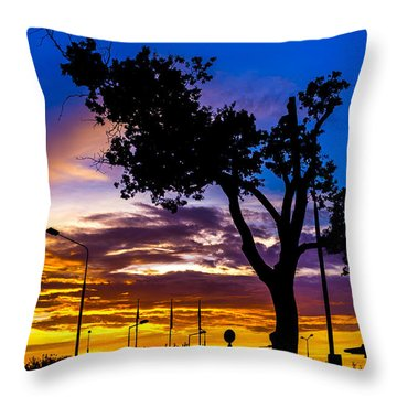 There Is Something Magical About The Sky Throw Pillow
