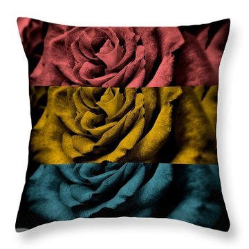 Throw Pillow featuring the digital art There She Goes by Holley Jacobs
