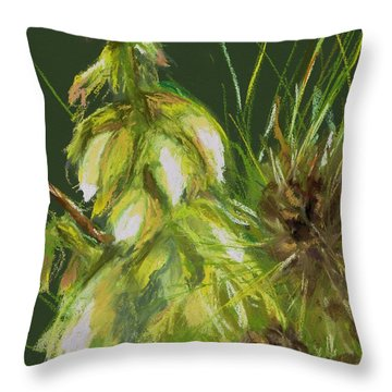 Theres A Yucca In My Yard Throw Pillow by Frances Marino