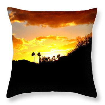 There's Gold In Them Thar Hills Throw Pillow by Jay Milo