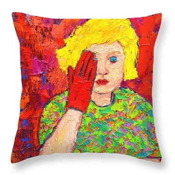 There's No Comfort In The Truth Throw Pillow by Ana Maria Edulescu