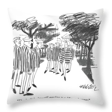 There's Old Begley - Still Marching Throw Pillow
