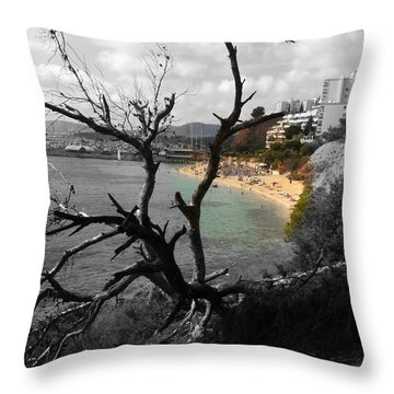 There's The Beach Throw Pillow