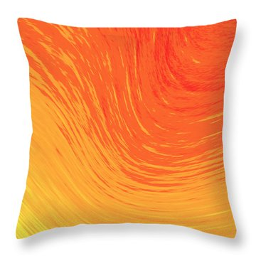 Heat Wave Throw Pillow by Kellice Swaggerty