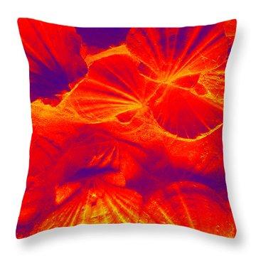 Thermal Shells Throw Pillow by Hanza Turgul
