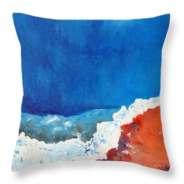 Thermal Shift Throw Pillow by Abbie Groves