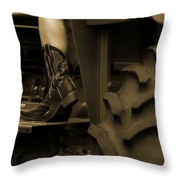 These Boots 1 Sepia Throw Pillow