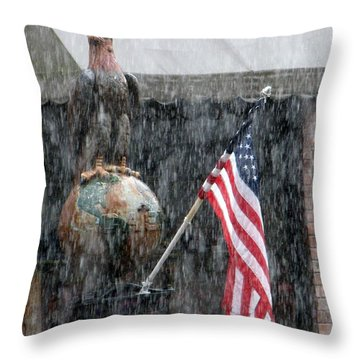 Throw Pillow featuring the photograph These Colors Dont Run by John Glass