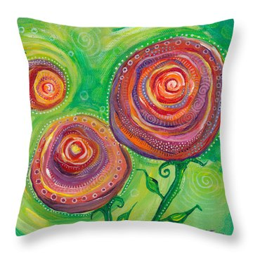 These Roses Are Forever Throw Pillow by Tanielle Childers