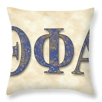 Theta Phi Alpha - Parchment Throw Pillow by Stephen Younts