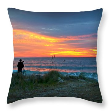 Waiting For The Sun Throw Pillow by Phil Mancuso