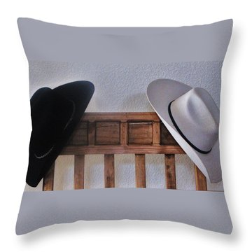 Throw Pillow featuring the photograph They Came Off When You Entered A Home by John Glass