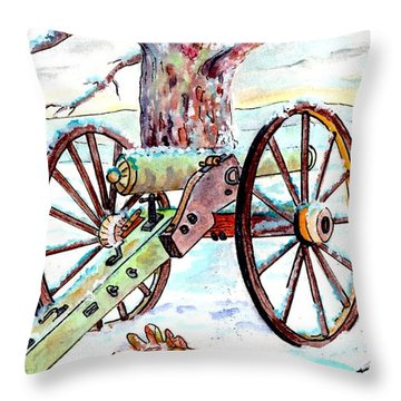 They Were All Americans Throw Pillow by Philip Bracco
