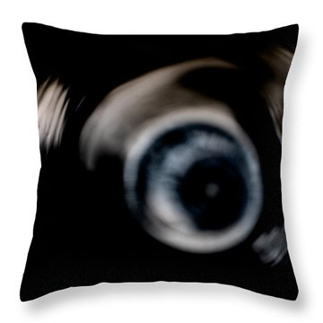 They're Watching The Madness Throw Pillow by James Barnes