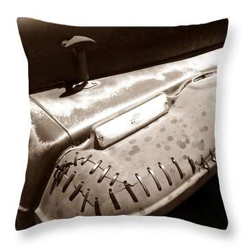 Thick Skin Throw Pillow by Luke Moore