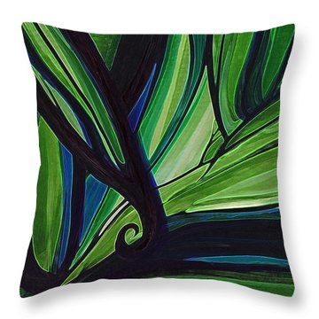 Thicket Throw Pillow by First Star Art