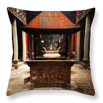 Throw Pillow featuring the photograph Thien Hau Temple  by Lucinda Walter