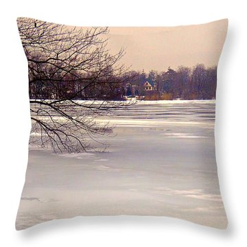 Thin Ice Throw Pillow by Mikki Cucuzzo