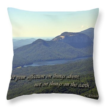 Things Above Throw Pillow by Larry Bishop