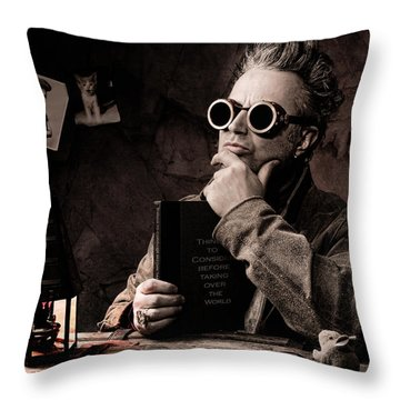 Things To Consider - Steampunk - World Domination Throw Pillow by Gary Heller