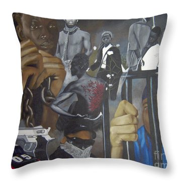 Think Black Man Throw Pillow