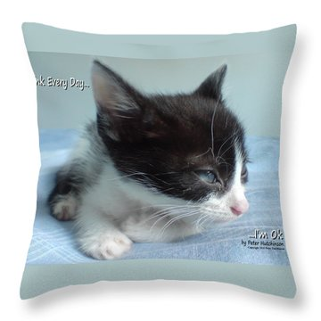 Think Every Day I'm Ok Throw Pillow