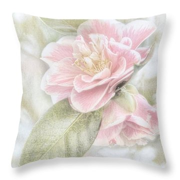 Think Pink Throw Pillow by Peggy Hughes