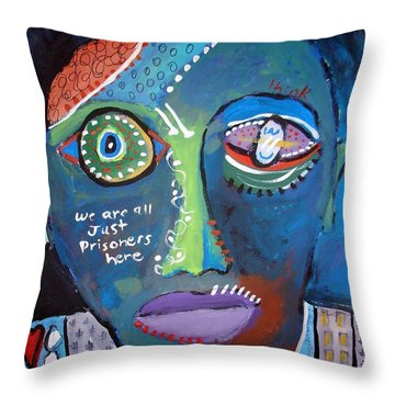 Think Throw Pillow by Venus