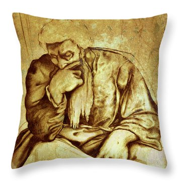 Thinker  No.3 Throw Pillow