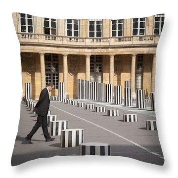 Thinking - At Palais Royal Throw Pillow by Brian Jannsen