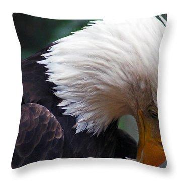 Thinking Throw Pillow