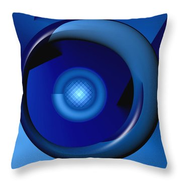 Thinking Of Blue Throw Pillow