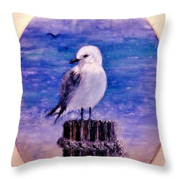 Throw Pillow featuring the painting Thinking Of You.. by Cristina Mihailescu